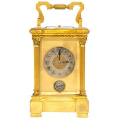 Carriage Clock with Grande Sonnerie Complication and Ormolu Bronze Case