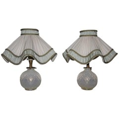 Pair of Mid-Century Modern Italian Table Lamp Seguso Design 1950