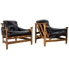 Brazilian Midcentury Jean Gillon 'Bertioga' Chairs 1960s in rosewood and leather