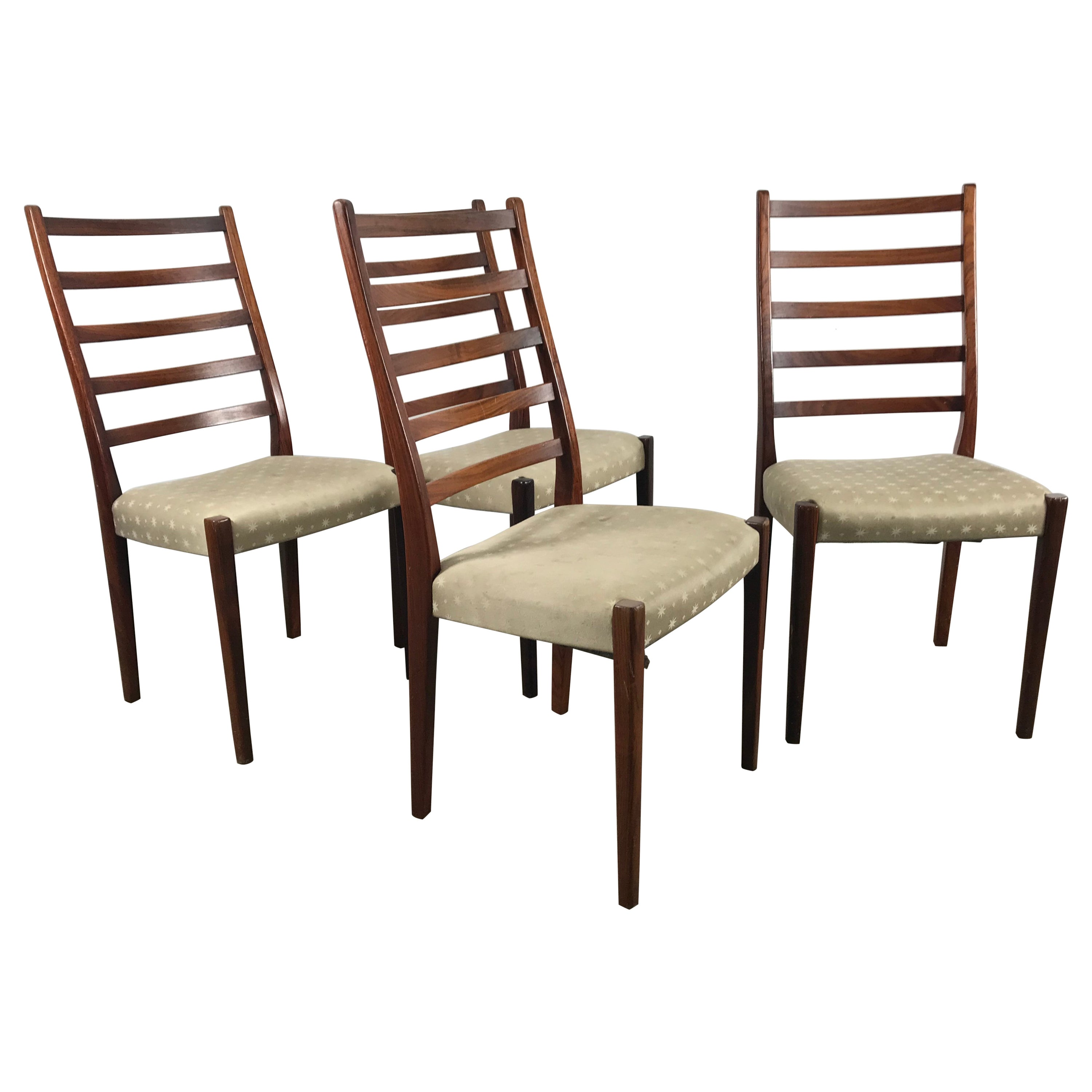 Set of Four Rosewood Dining Chairs by Svegards Markaryd, Sweden