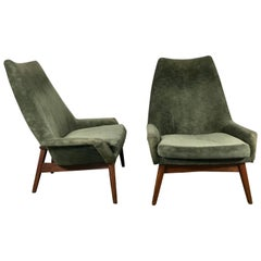 Pair of Mid-Century Modern Lounge Chairs by Jan Kuypers