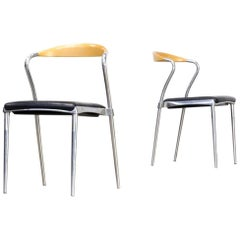 Luigi Origlia 'Piuma' Design Chair for Origlia Italy, Set of Two