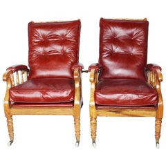 Pair of Arts & Crafts Reclining Armchairs