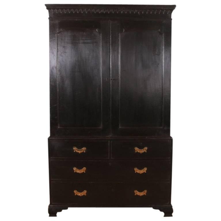George III Painted Wardrobe