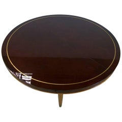 Circular Tray Table in Beka Lacquer, circa 1950 by B Spade