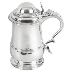 Antique English George III Sterling Silver Tankard, 1762