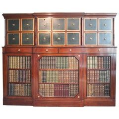 Large French 1950s Mahogany Library Cabinet