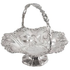 19th Century Victorian Silver Plated Fruit Basket Henry Waterhouse London