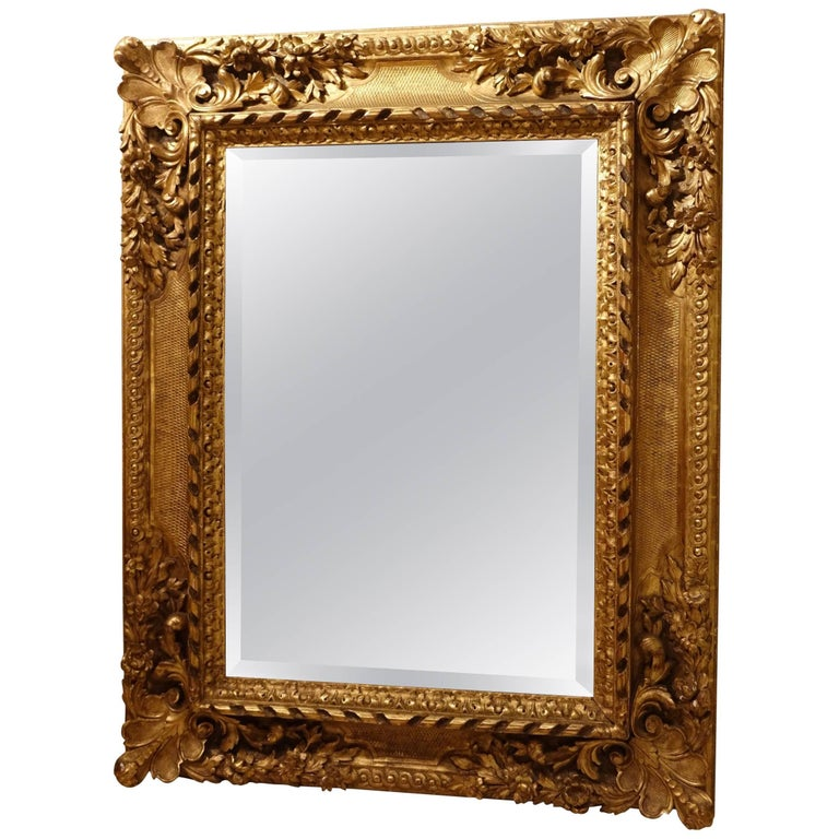 Large Giltwood  Louis XIV Style Mirror , France  circa 1850