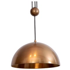 Florian Schulz Posa Centerweight Pendant Light in Brass, Germany
