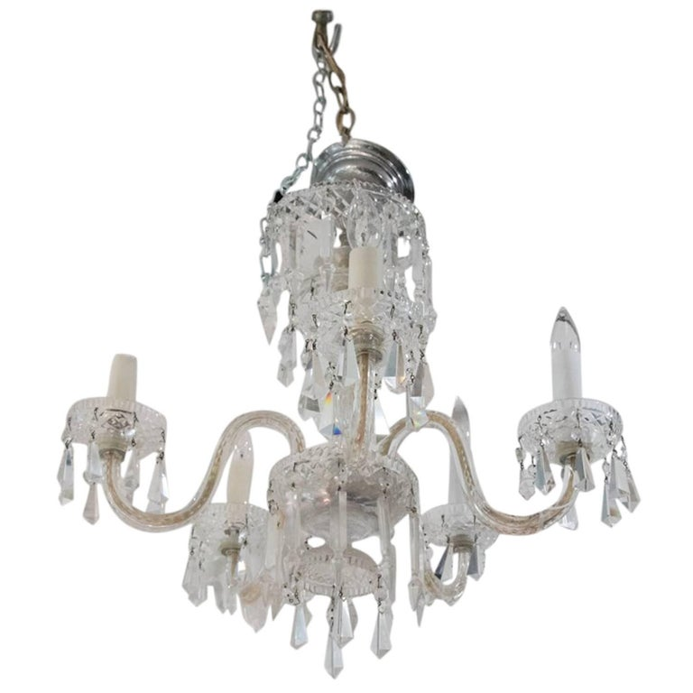 Fine waterford crystal twelve arm chandelier at 1stdibs 1920s waterford style fantastic cut crystal five arm chandelier aloadofball Images