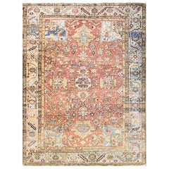 Amazing Antique Persian Heriz Village Carpet