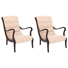 Lounge Chairs by Ezio Longhi, Italy 1950s