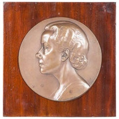 Bronze Plaque by Artur Loewental
