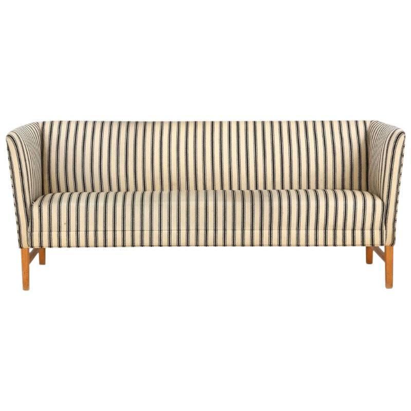 Danish Modern Striped Sofa
