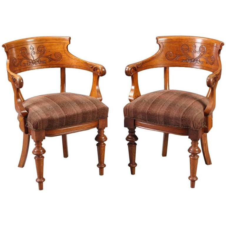 Pair of Victorian Armchairs For Sale