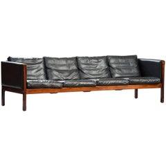 Hans J. Wagner Rosewood AP 62 Four-Seat Sofa