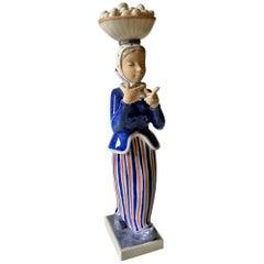 Royal Copenhagen Figurine Woman with Eggs by Johannes Hedegaard #4418