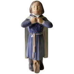 Royal Copenhagen Figurine of Schoolboy with Cloak and Bag #4503