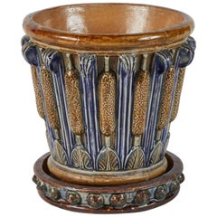 Early 20th Century Arts and Crafts Jardiniere Pot with Drip Tray