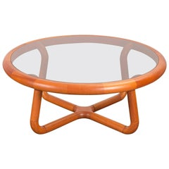 Glass Sculptural Coffee Table for Uldum