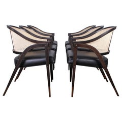 Set of Six a Frame Armchairs by Edward Wormley for Dunbar
