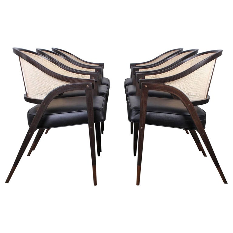 Set of Six a Frame Armchairs by Edward Wormley for Dunbar For Sale