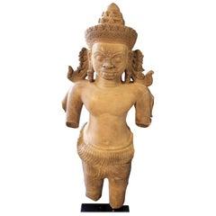 Torso fo Bhairava Sandstone Cambodia Lord Shiva