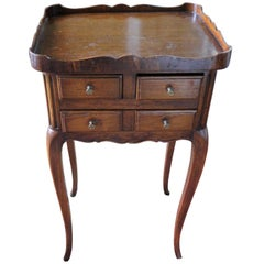 French Side Table with Drawers and Gallery, Late 19th Century