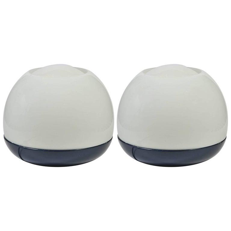 "Artemide ""Platea"" 1960s Pair of Large Table Lamps"
