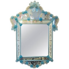 1940s Italian Murano Venetian Mirror by Barovier