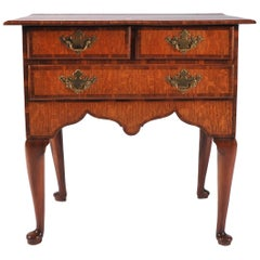 Mid 18th Century Side Table, Scandinavian Elm and Oak Lowboy