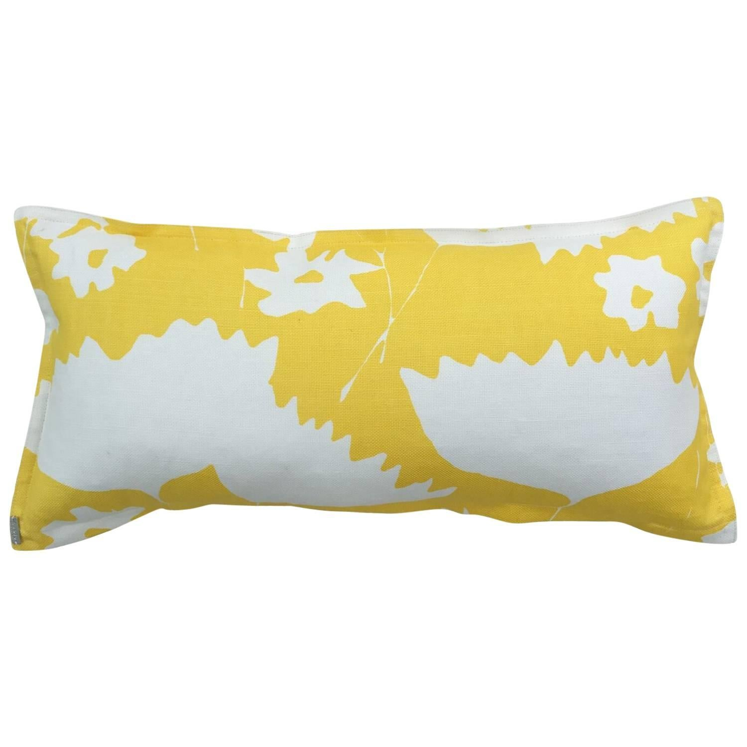 Sunshine Cosmos on Oyster Cotton Linen Pillow