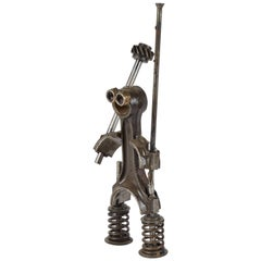 Sculpture Made from Industrial Iron Parts in France Circa 1980s