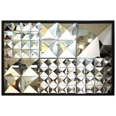 Modern Mirror in Geometric Pyramidion Shapes