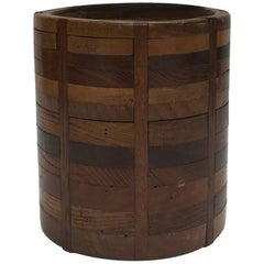 Wooden Canister from Late 19th Century France