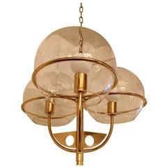 Italian 1970 High Style Brass Pendant