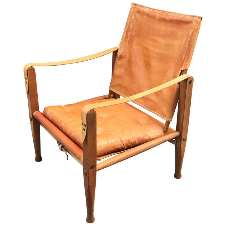 Kaare Klint Safari Chair Danish Design For Sale