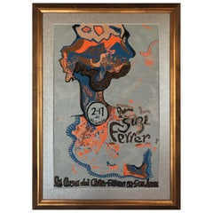 Suzi Ferrer Abstract Expressionist Silkscreen Poster by Lorenzo Homov, 1966