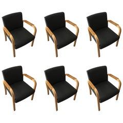 Set of Six Alvar Aalto #46 Armchairs by Artek