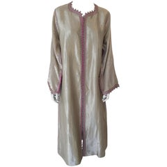 Moroccan Metallic Brocade Kaftan, Maxi Dress Kaftan from Morocco, North Africa