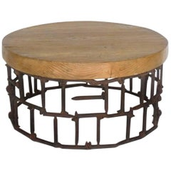 Round Rail Road Spike Table