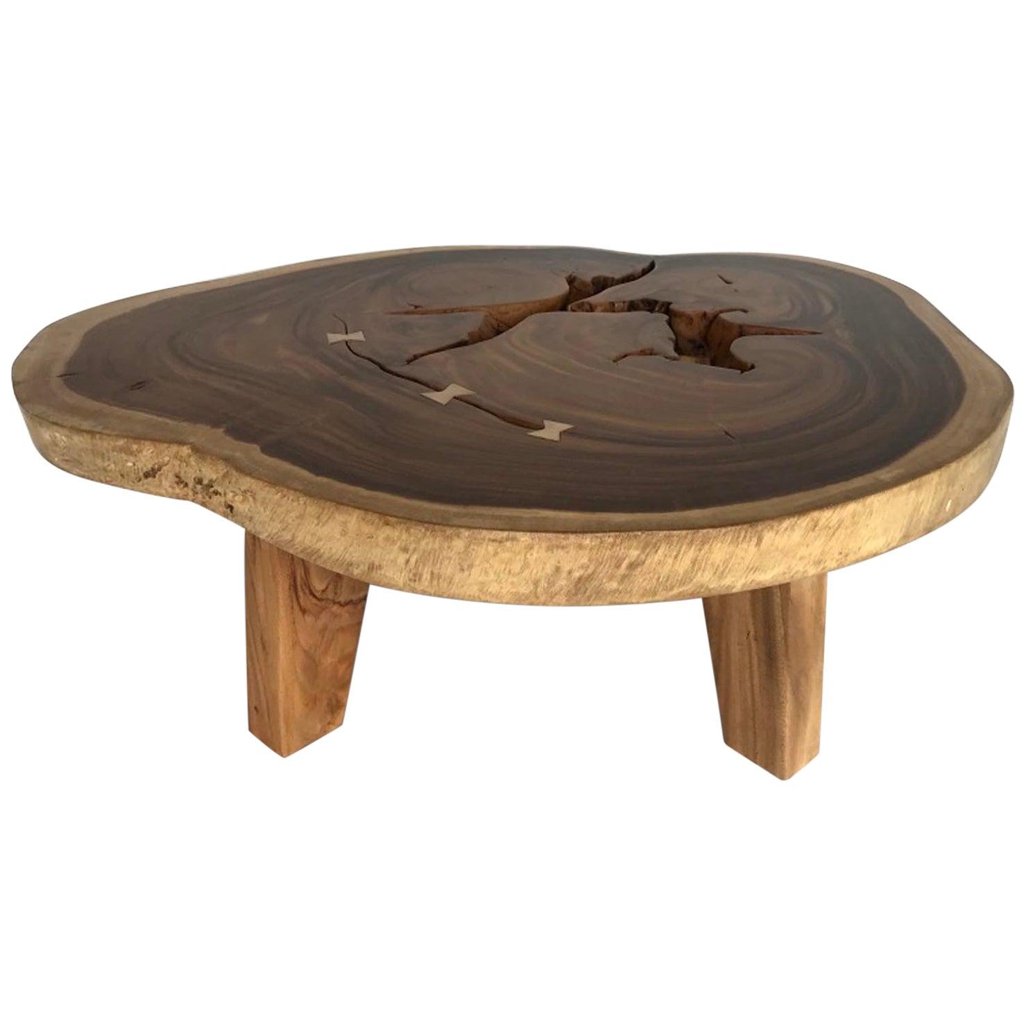 Free-Form Wood Coffee Table