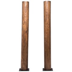 Pair of Early 20th Century Chinese Crazed Columns