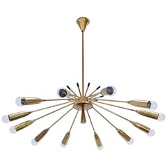 Twelve-Arm Modernist Chandelier