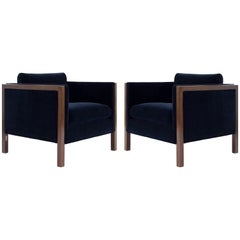Milo Baughman Cube Lounge Chairs