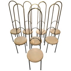 Suite of Eight Italian Dining Chairs