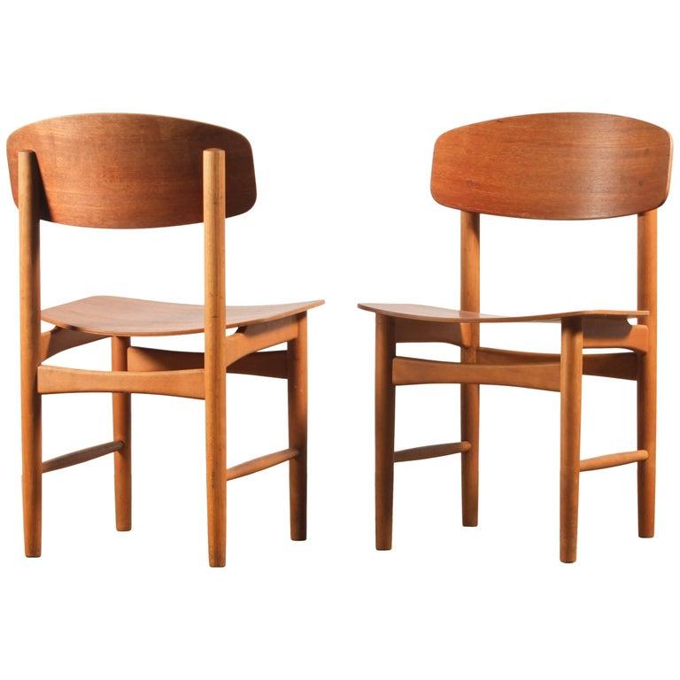 Pair of Børge Mogensen Model 122 for Soborg Mobler Dining Room Chairs