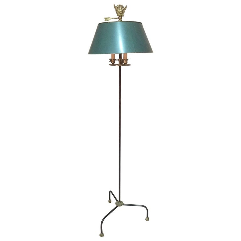 French Empire Style Bronze and Metal Floor Lamp