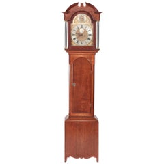 Antique Oak Brass Face 8 Day Grandfather Clock